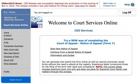Welcome to Court Services Online